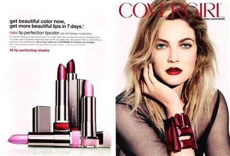 Drew Barrymore Signs With Covergirl Cosmetics by Covergirl Persuades Using Faces