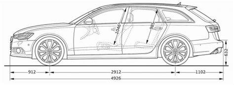 Audi A6 Abmessungen by Audi A6 Avant C7 Abmessungen Technische Daten