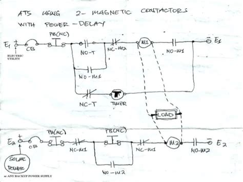 automatic transfer switch wiring diagram pdf transfer