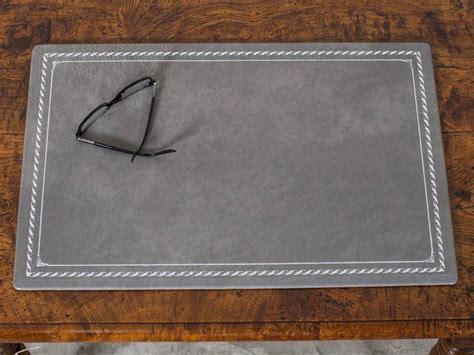 custom grey leather desk pad blotter hungary circa