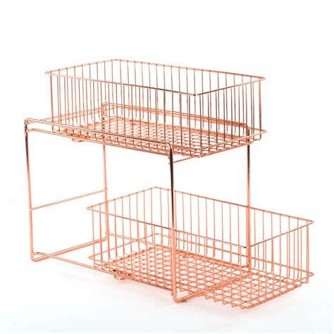 pull out pantry organizer copper in pull out baskets