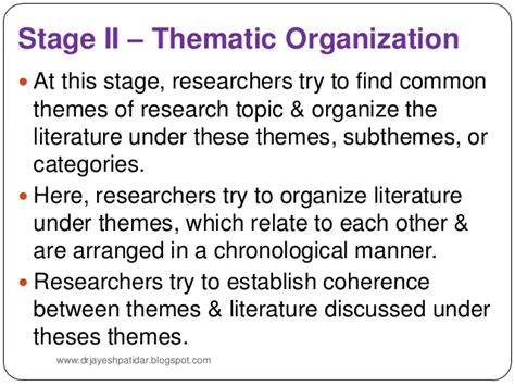 themes within a literature review literature review in research