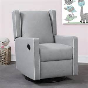 Nursery Glider Recliner Mon Bebe Everston Wing Back Swivel Glider Recliner Grey N Cribs