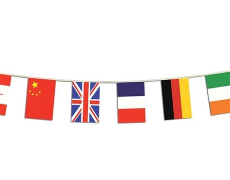Flag Banner international flag banner 12 countries partycheap