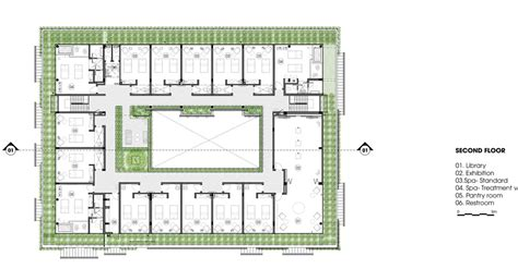 spa layout plan drawing vietnam spa by mia design studio features latticed walls