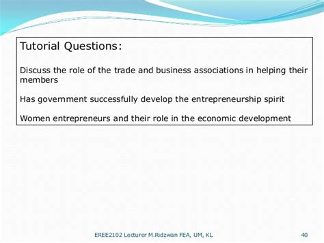 Tutorial Questions On Entrepreneurship | opportunities and challenges as an entrepreneur smes in