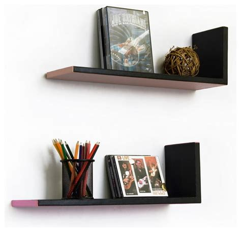 warm l shaped leather shelf bookshelf floating