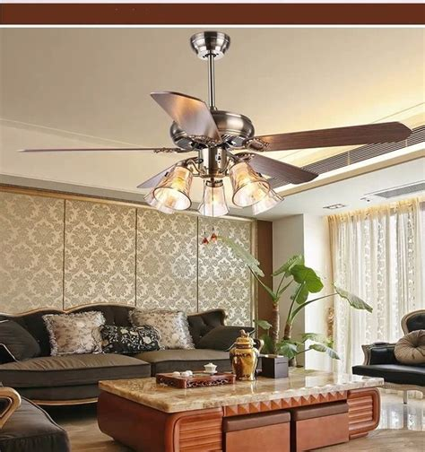 dining room ceiling fans with lights aliexpress buy ceiling fan light living room antique