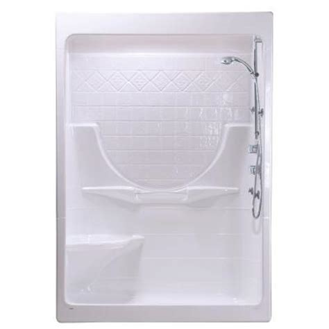 Home Depot Showers With Seat by Maax Montego I 33 In X 59 1 4 In X 85 In Shower Stall