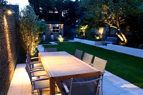 modern family garden modern family garden in battersea with patio lighting planting