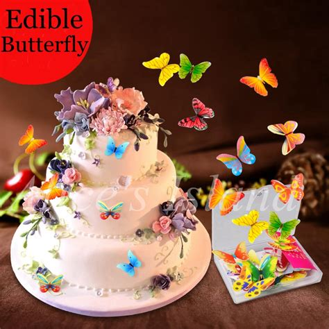 how to make edible cake decorations at home 34pcs 3d edible butterfly cake decoration wedding birthday