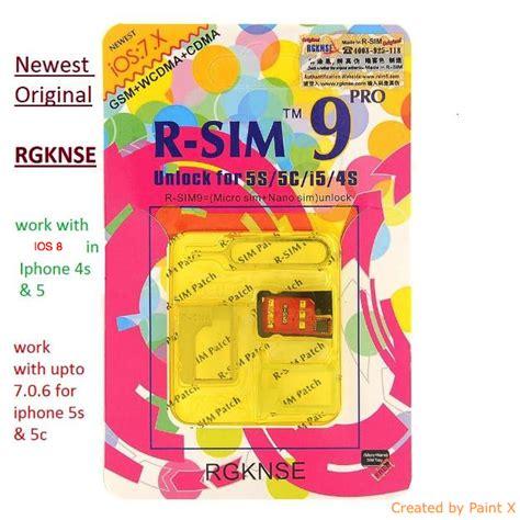 Harga Termurah Rsim Pro 9 R Sim 9 Plus Unlocked Iphone Ios 8 X X r sim 9 pro