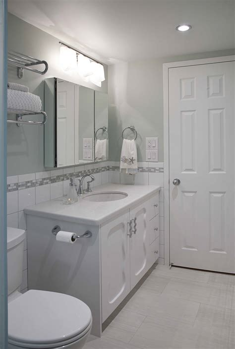 narrow vanities for small bathrooms condo bath design a designer s tale