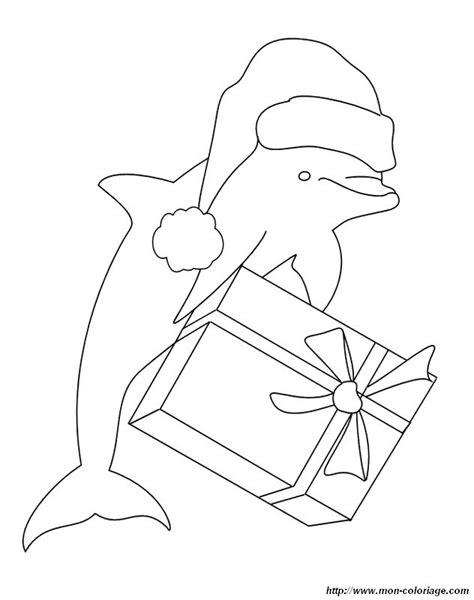 ausmalbilder delfin bild weihnachtsmann delphin