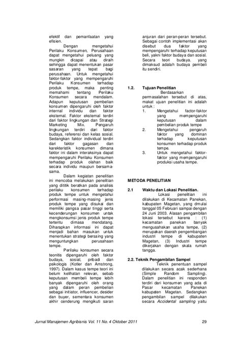 Jurnal Wacana Vol11 No2 jurnal manajemen agribisnis vol 11 no 4 oktober 2011