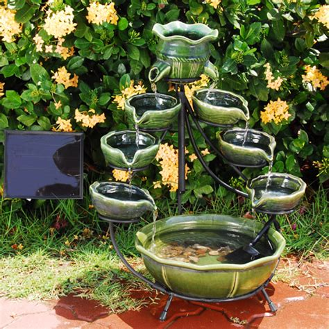 solar powered backyard fountains fountains everywhere indoor outdoor water fountains