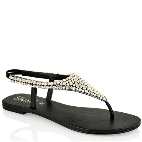 Diamante sandals   Sandals & Beach Shoes : Mince His Words