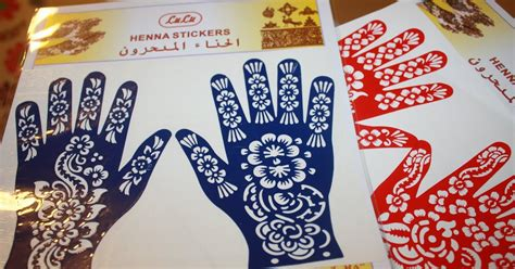 Henna Design Stickers | moroccan beauty secrets henna stickers