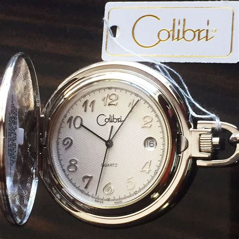 colibri swiss made classic quartz pocket with chain