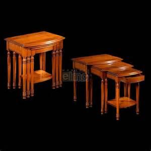 tables basses gigognes merisier massif aline