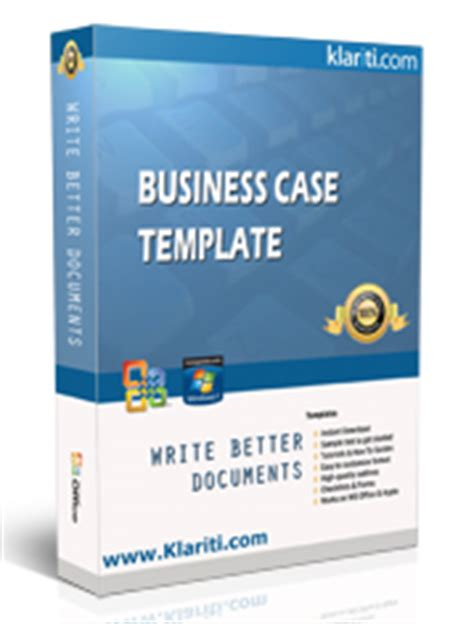 business case templates ms word