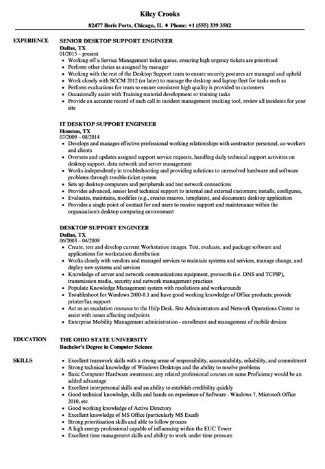 resume format for desktop support engineer desktop support engineer resume sles velvet