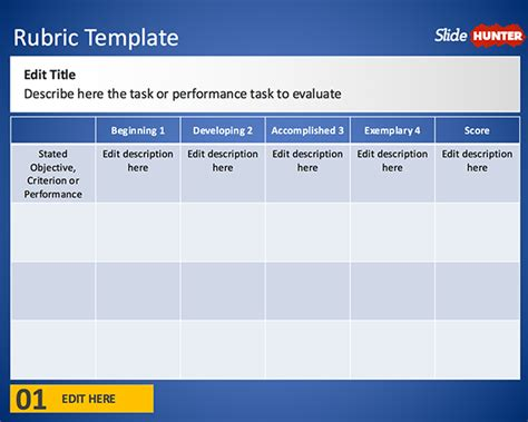 free free rubric template for powerpoint free powerpoint