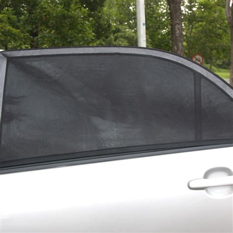 window covers for cars 2pcs adjustable auto car side window sun shade black mesh