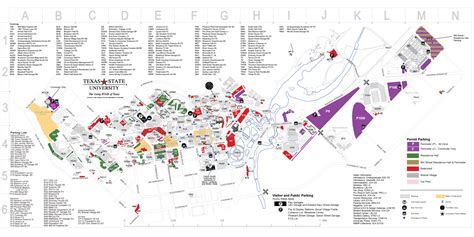 texas state parking map cus map veteran academic success center tutor corps texas state university