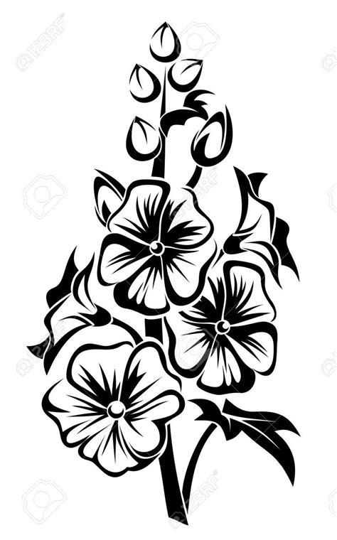 clipart fiori nero silhouette di fiori di malva clipart royalty free