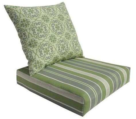 Seat Patio Cushions 24x24 by Bossima Outdoor Green Grey Damask Striped Seat