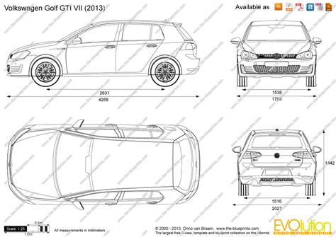 volkswagen drawing the blueprints com vector drawing volkswagen golf gti vii