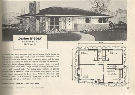 1950s ranch house floor plans 2 story 1950 house plans 1950s house plans vintage home