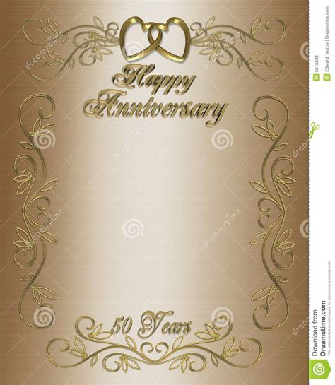 50th Wedding Anniversary Layouts 50th Anniversary Invitation Border Wedding Pinterest Golden Anniversary Invitation Templates