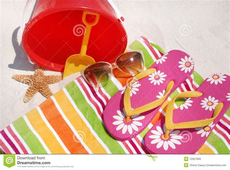 Summer Beach Supplies Royalty Free Stock Images   Image