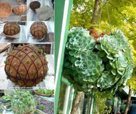 Pvc Patio Table Diy Hanging Succulent Sphere Anyone Can Make