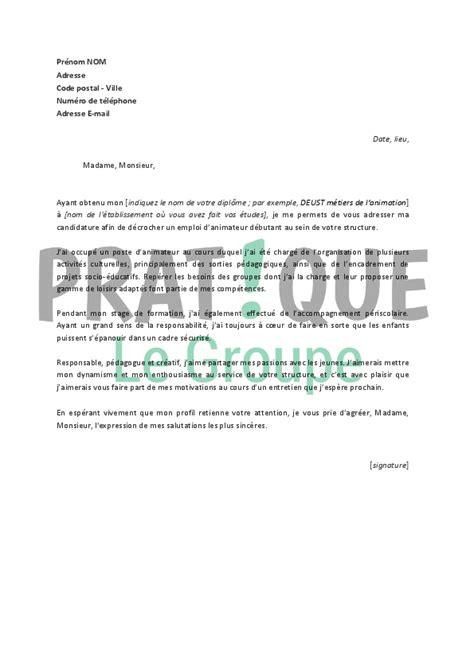 lettre de motivation pour poste periscolaire ccmr