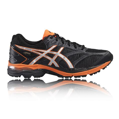 asics sport shoes asics gel pulse 8 mens black cushioned tex running