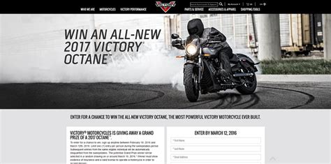 Victory Motorcycle Sweepstakes - victory motorcycles octane sweepstakes