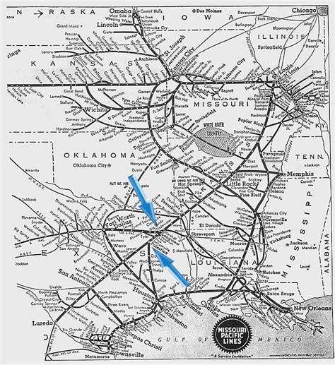 missouri amtrak map missouri pacific s eagle southwest rails