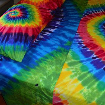 rainbow tie dye comforter hand dyed twin sheet set in vibrant from wildflowerdyes on