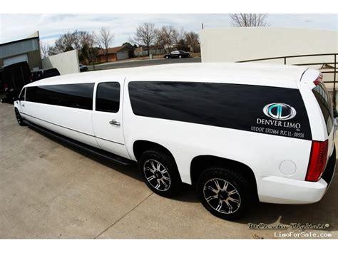 cadillac escalade suv stretch limo american limousine sales aurora colorado