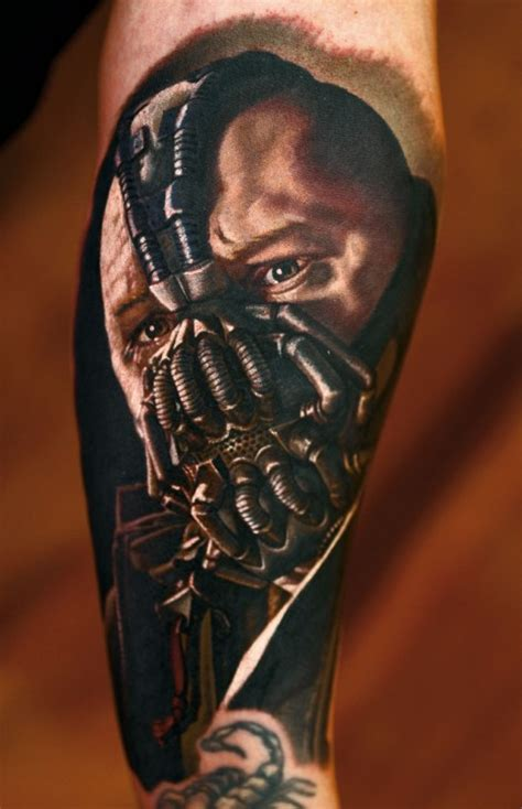 bane tattoo realistic 3d bane design for arm