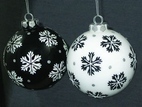8 black and white christmas ornaments merry christmas