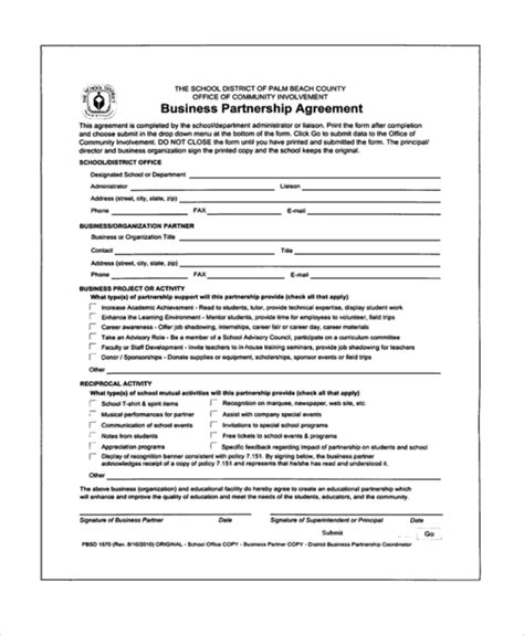 partnering agreement template business partnership agreement template partnership