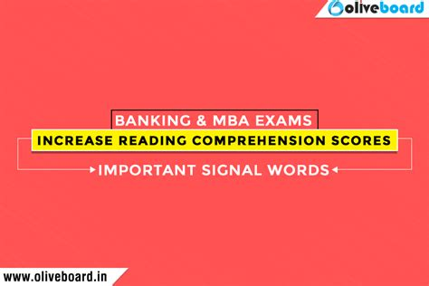 Mba In Banking Syllabus by Increase Scores In Reading Comprehension For Banking Mba