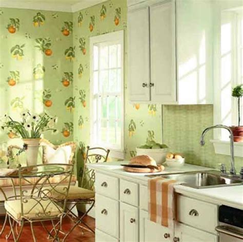 Wallpaper Ideas For Kitchen Green Kitchen Paint Colors And Green Wallpapers For Kitchen Decorating