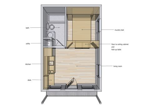 tiny house bed ideas 14 x 20 interior space ideas tiny house design
