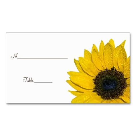 sunflower place cards template sunflower thanksgiving card templates 28 images fall