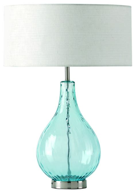 Table Lamp Aqua Glass Lucy Aqua Table Lamp Contemporary Table Lamps By